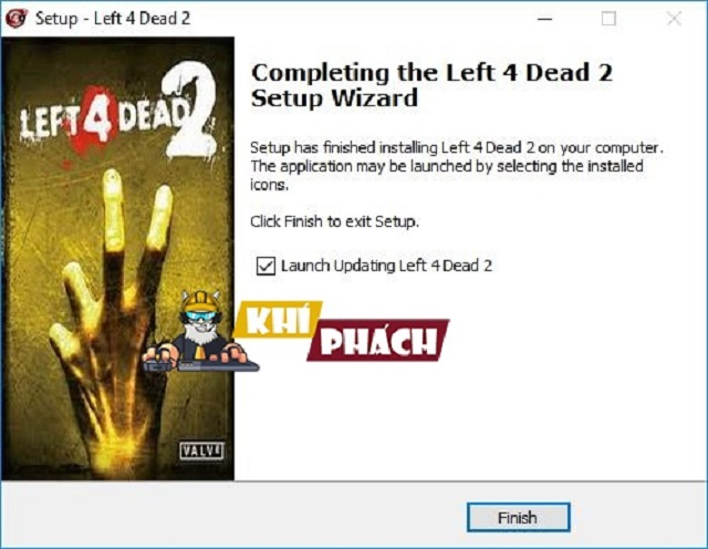 "Thao tác chọn ""Launch Updating Left 4 Dead 2"""